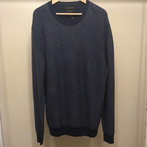 Tahari pure luxe 100% cashmere blue XL